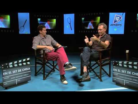 José Luis Clerc - En el set de Chela