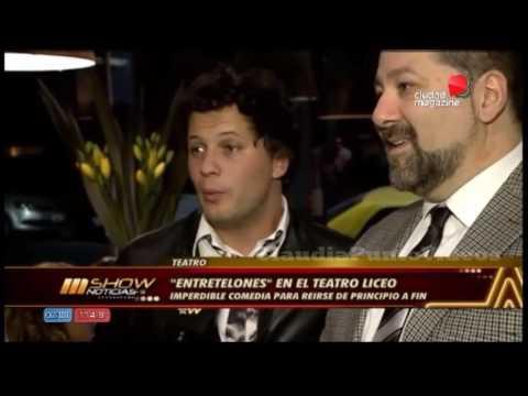 """Teatro: Darío Lopilato y Omar Calicchio """"Entretelones"""" Teatro Liceo"""