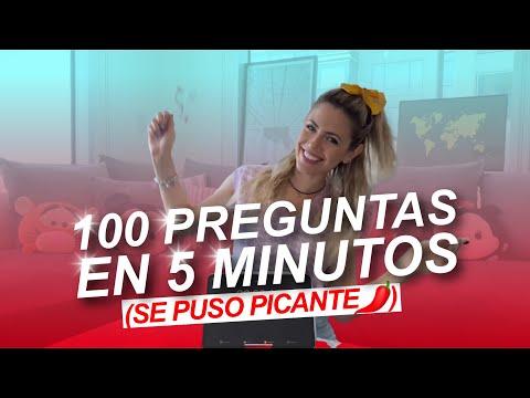 100 PREGUNTAS EN 5 MINUTOS (SE PONE PICANTE 🌶️🥵) | Stephanie Demner