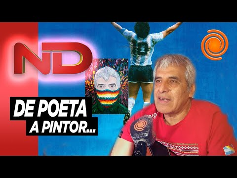 Peteco Carabajal: entre la pintura y otra canción dedicada a Diego Maradona