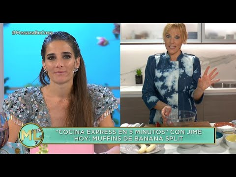 """Muffins de banana split"", la receta express de Jimena Monteverde"
