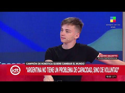 Mateo Salvatto mano a mano con Horacio Cabak |Entrevista completa