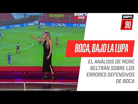 ¡Imperdible análisis táctico de #Morena #Beltrán sobre los errores defensivos de #Boca ante Unión!