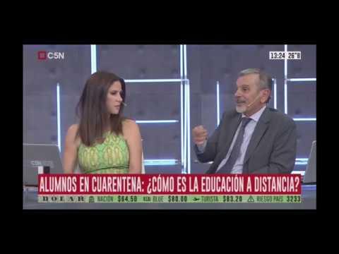 Entrevista en #C5N a Alejandro #Lanuque sobre #Educación Virtual por #Coronavirus