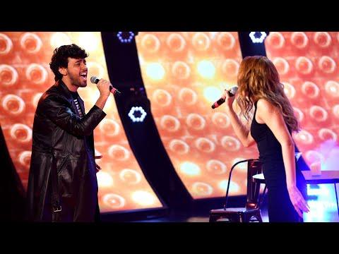 """Lizardo Ponce y Lucía Villar cantaron """"Solo aquí"""" de Airbag en Cantando 2020"""