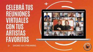 contratar charlas y shows por streaming