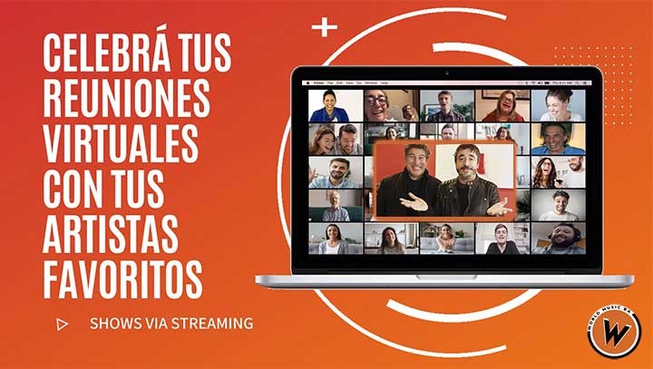 contratar charlas y shows por streaming